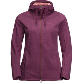 Jack Wolfskin Riverland Hooded Jacket Damen wild berry